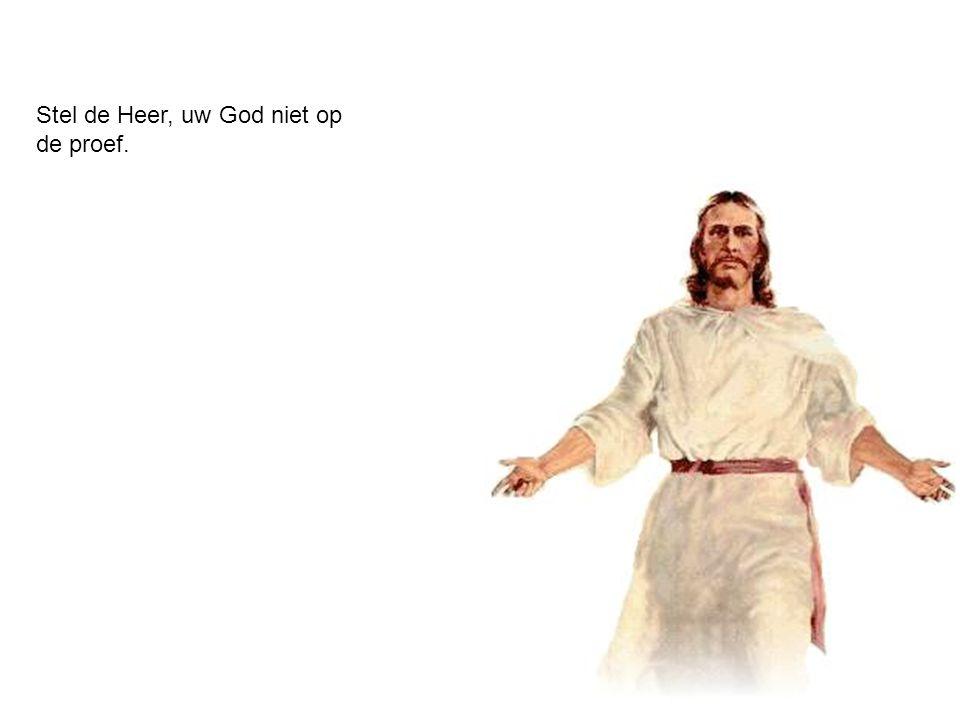 Stel de Heer, uw God niet op de proef.