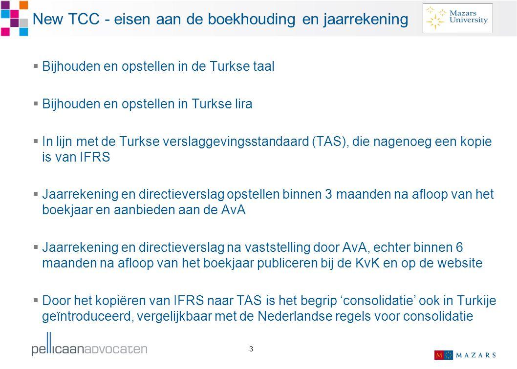 New TCC - eisen aan de boekhouding en jaarrekening