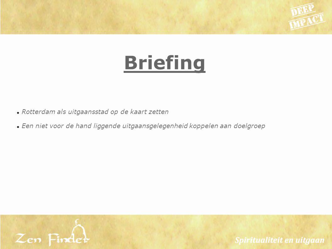 Briefing Rotterdam als uitgaansstad op de kaart zetten
