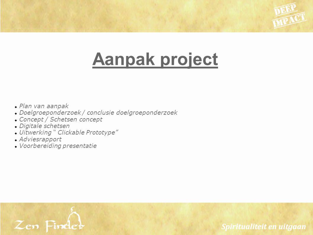 Aanpak project Plan van aanpak