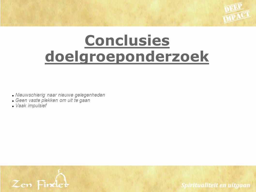 Conclusies doelgroeponderzoek