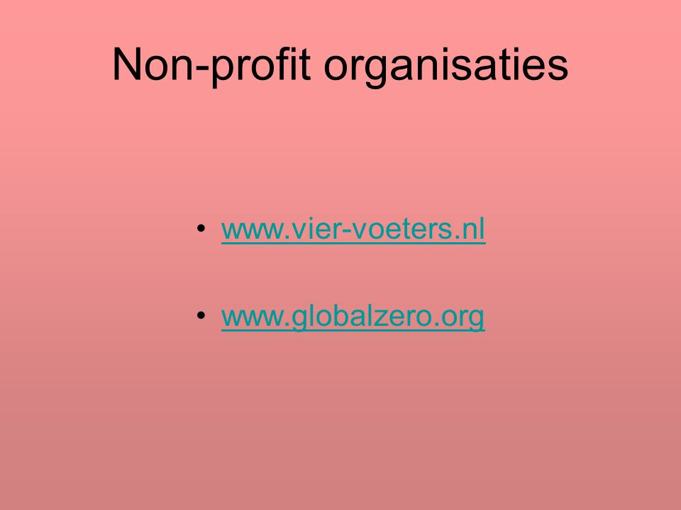 Non-profit organisaties