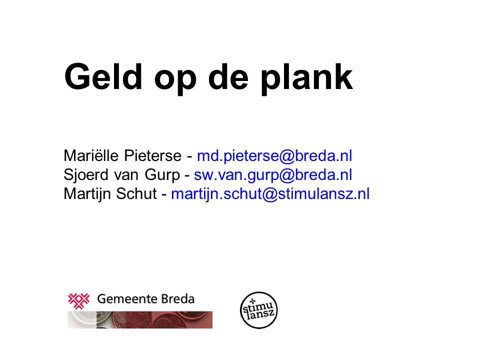 Geld op de plank Mariëlle Pieterse - md. pieterse@breda