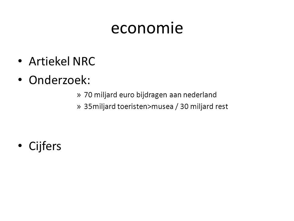 economie Artiekel NRC Onderzoek: Cijfers