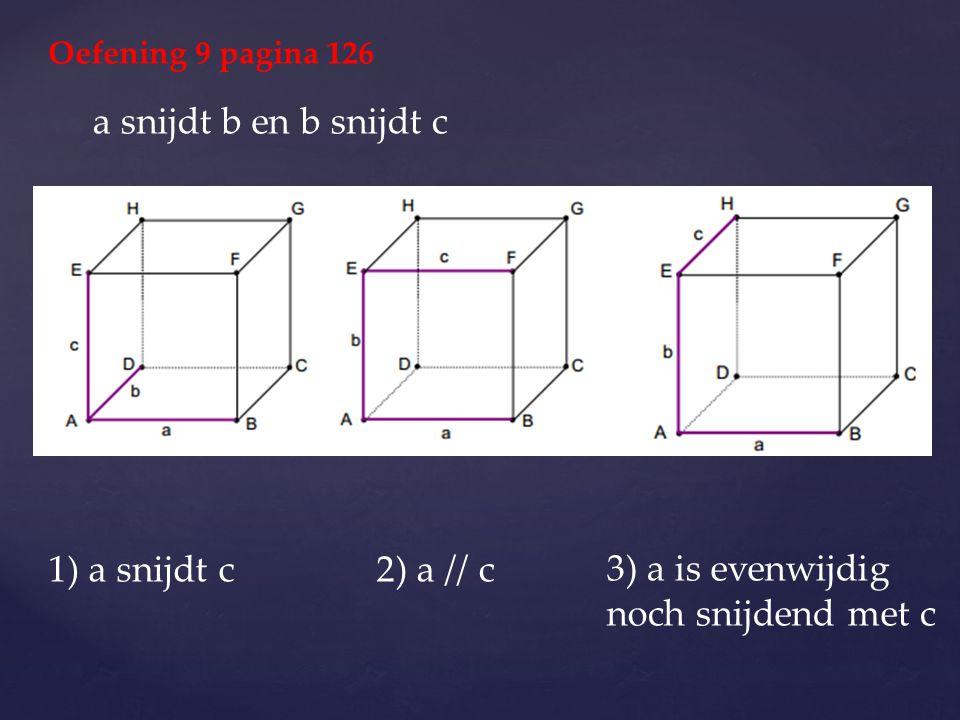 3) a is evenwijdig noch snijdend met c