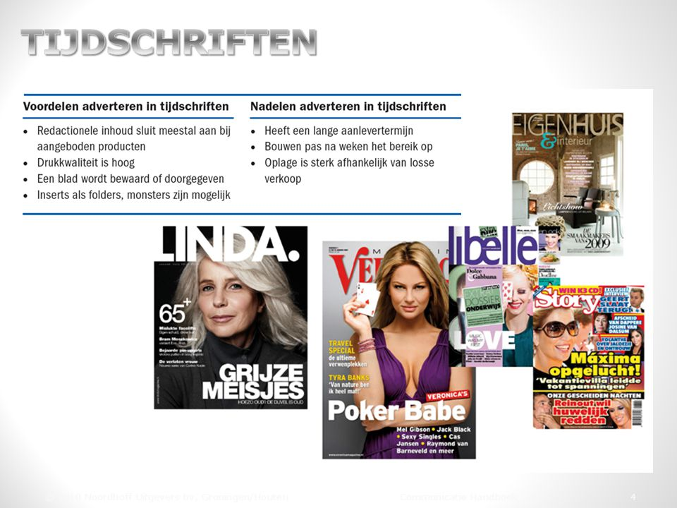 TIJDSCHRIFTEN © 2010 Noordhoff Uitgevers bv, Groningen/Houten Communicatie Handboek 4