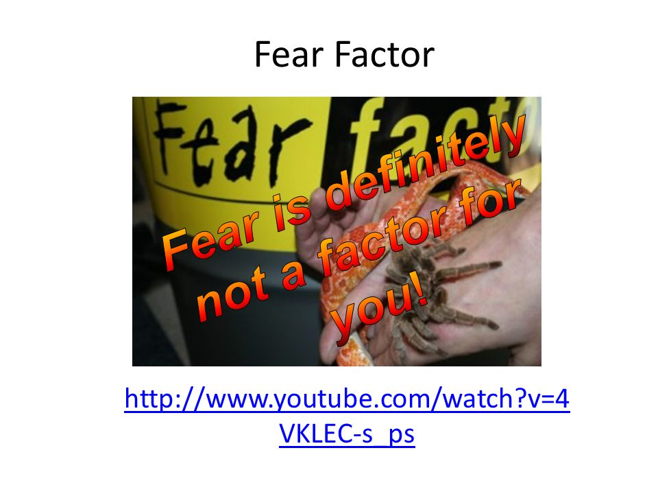 Fear is definitely not a factor for you!