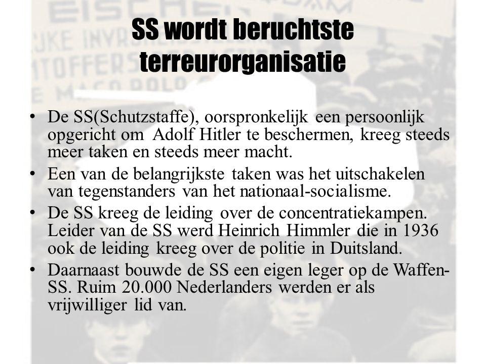 SS wordt beruchtste terreurorganisatie