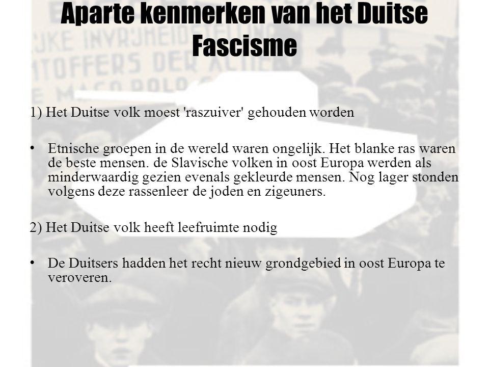 Aparte kenmerken van het Duitse Fascisme