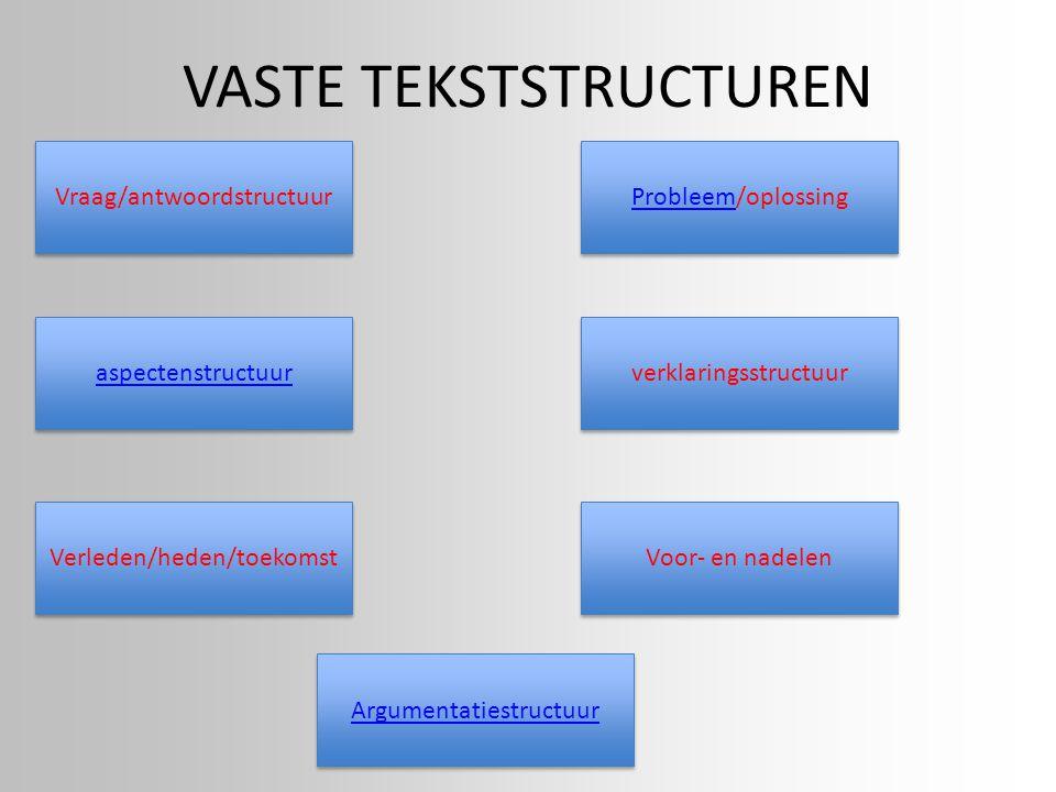 VASTE TEKSTSTRUCTUREN