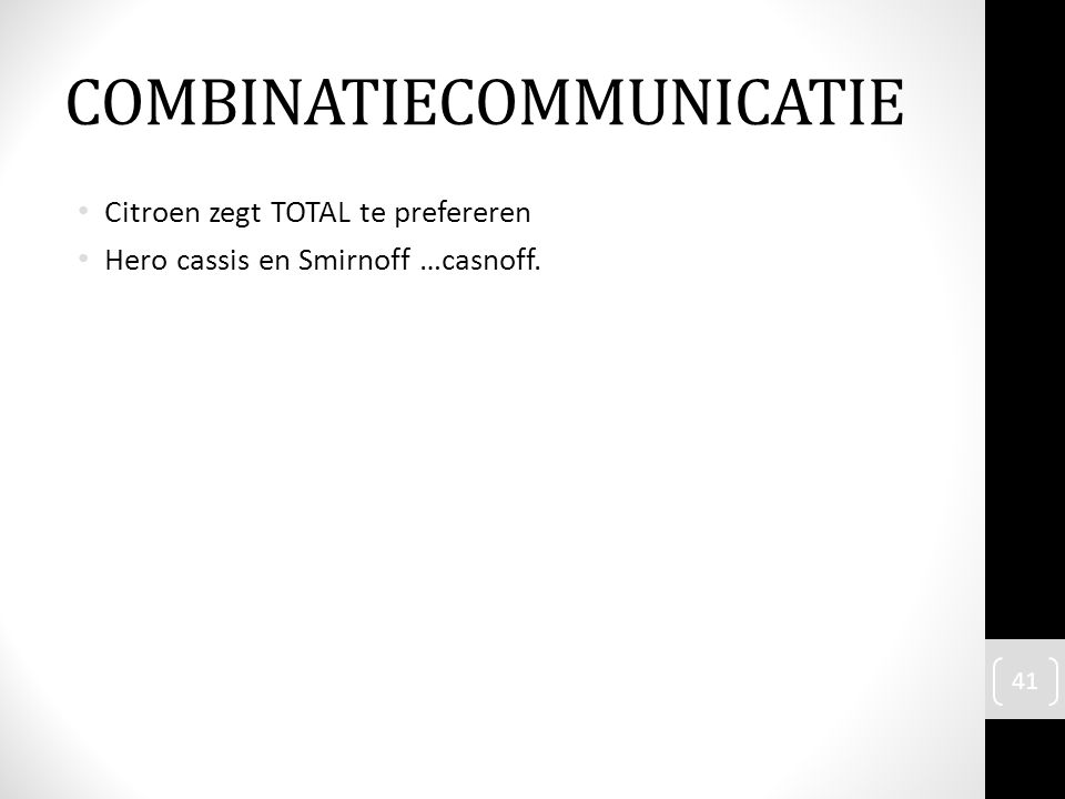 COMBINATIECOMMUNICATIE