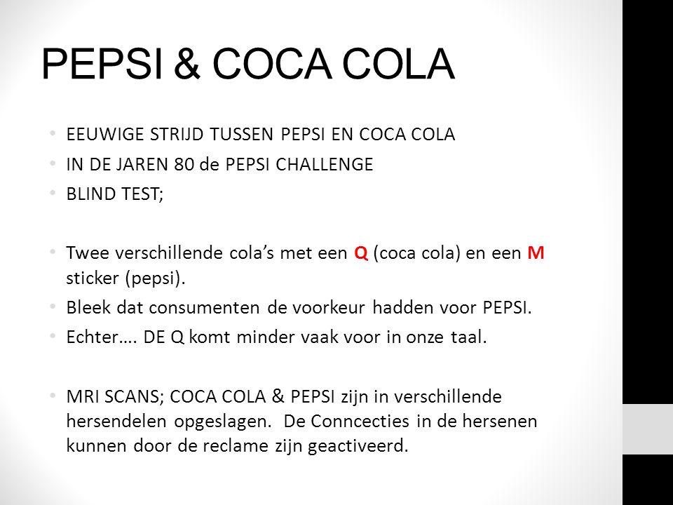 PEPSI & COCA COLA EEUWIGE STRIJD TUSSEN PEPSI EN COCA COLA