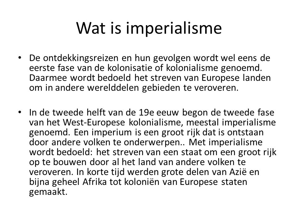 Wat is imperialisme