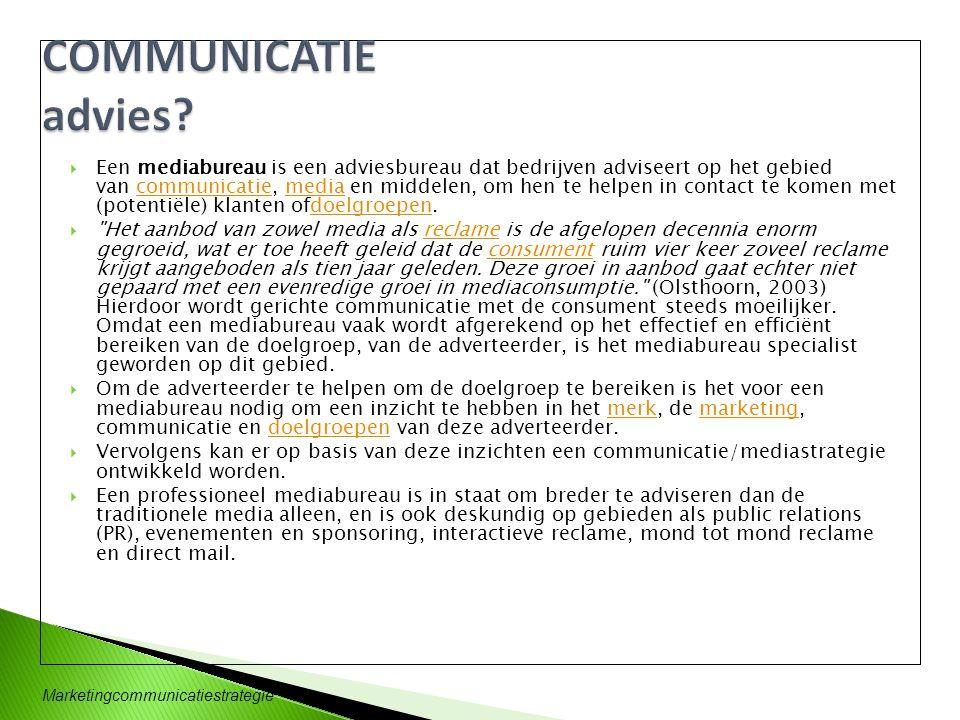 COMMUNICATIE advies
