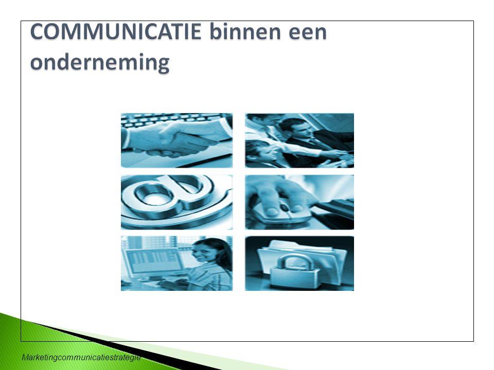 COMMUNICATIE binnen een onderneming