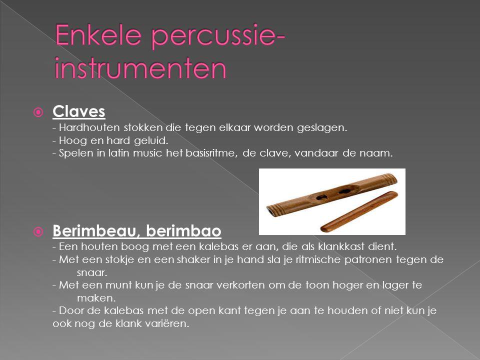 Enkele percussie-instrumenten
