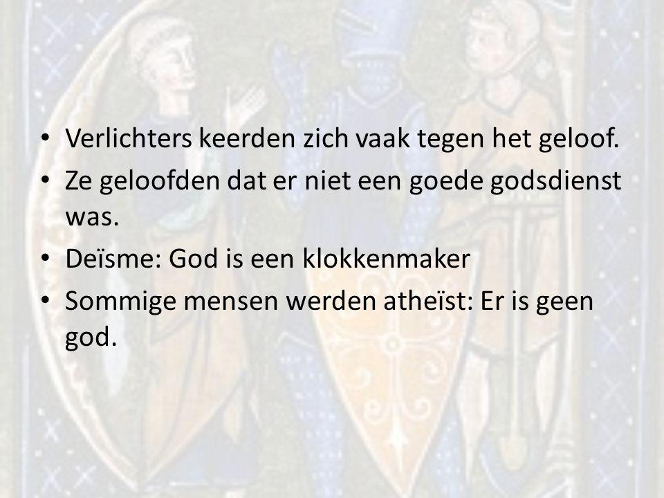 Verlichters keerden zich vaak tegen het geloof.