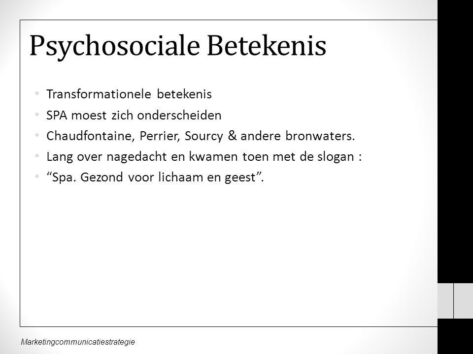 Psychosociale Betekenis