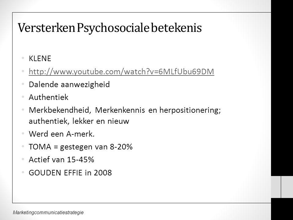 Versterken Psychosociale betekenis