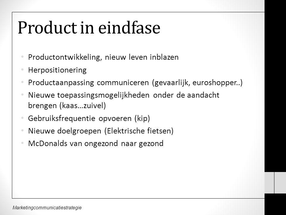 Product in eindfase Productontwikkeling, nieuw leven inblazen