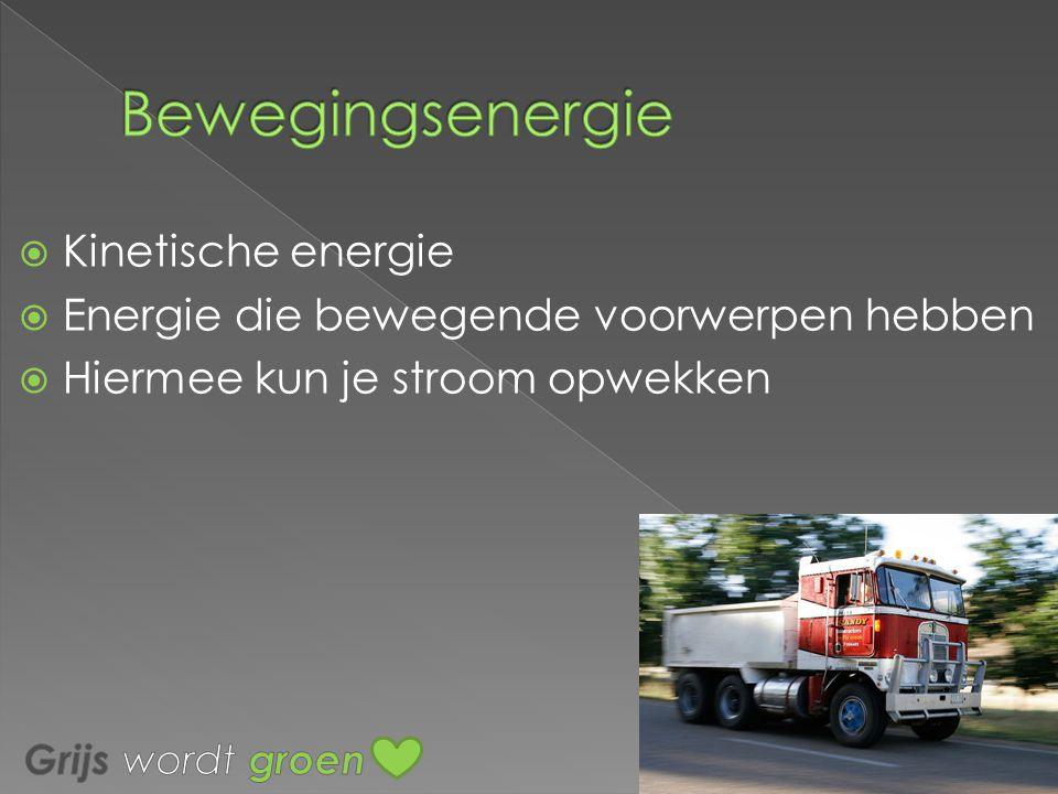 Bewegingsenergie Kinetische energie