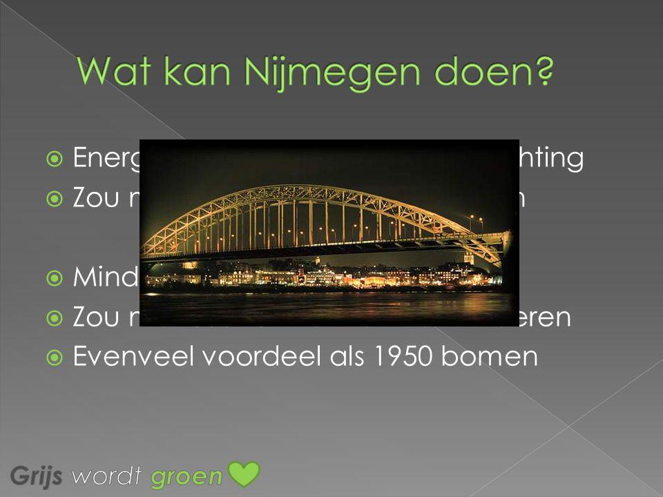 Wat kan Nijmegen doen Energie besparen op buitenverlichting