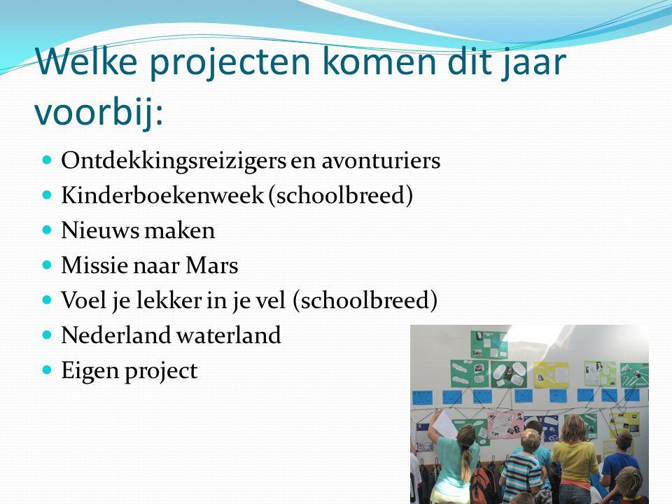 Welke projecten komen dit jaar voorbij:
