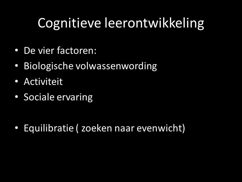 Cognitieve leerontwikkeling