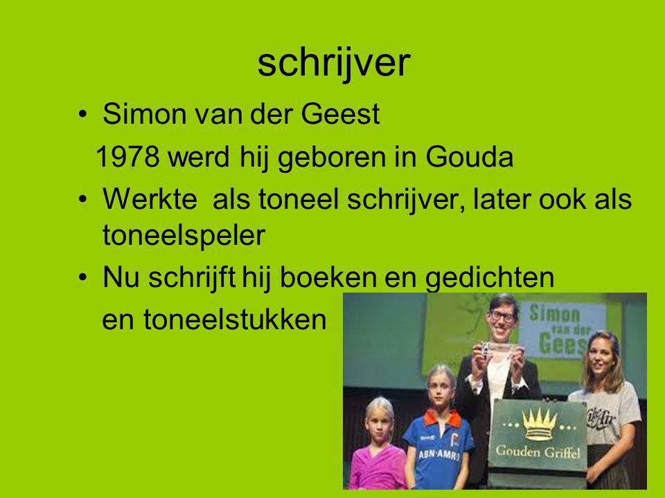 schrijver Simon van der Geest 1978 werd hij geboren in Gouda