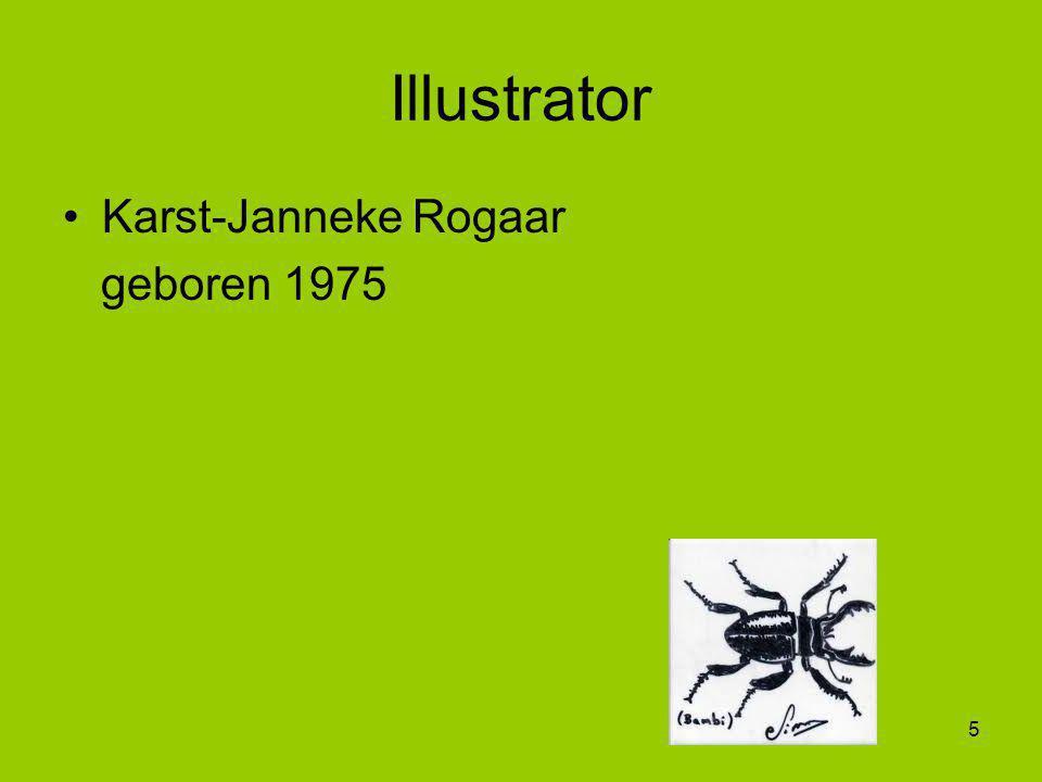 Illustrator Karst-Janneke Rogaar geboren 1975