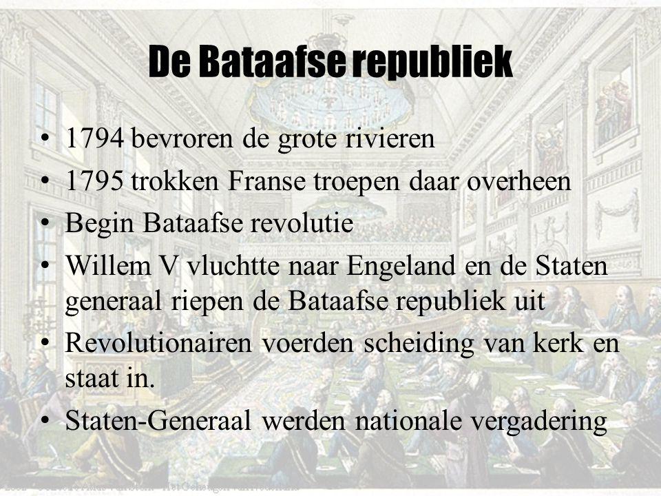 De Bataafse republiek 1794 bevroren de grote rivieren