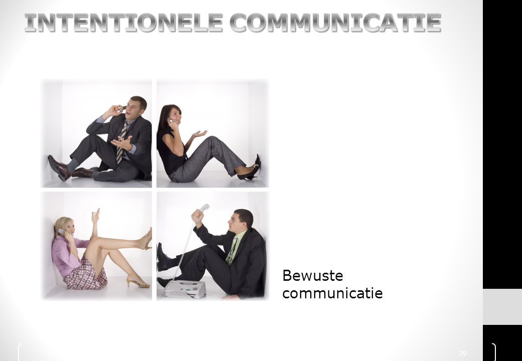 INTENTIONELE COMMUNICATIE