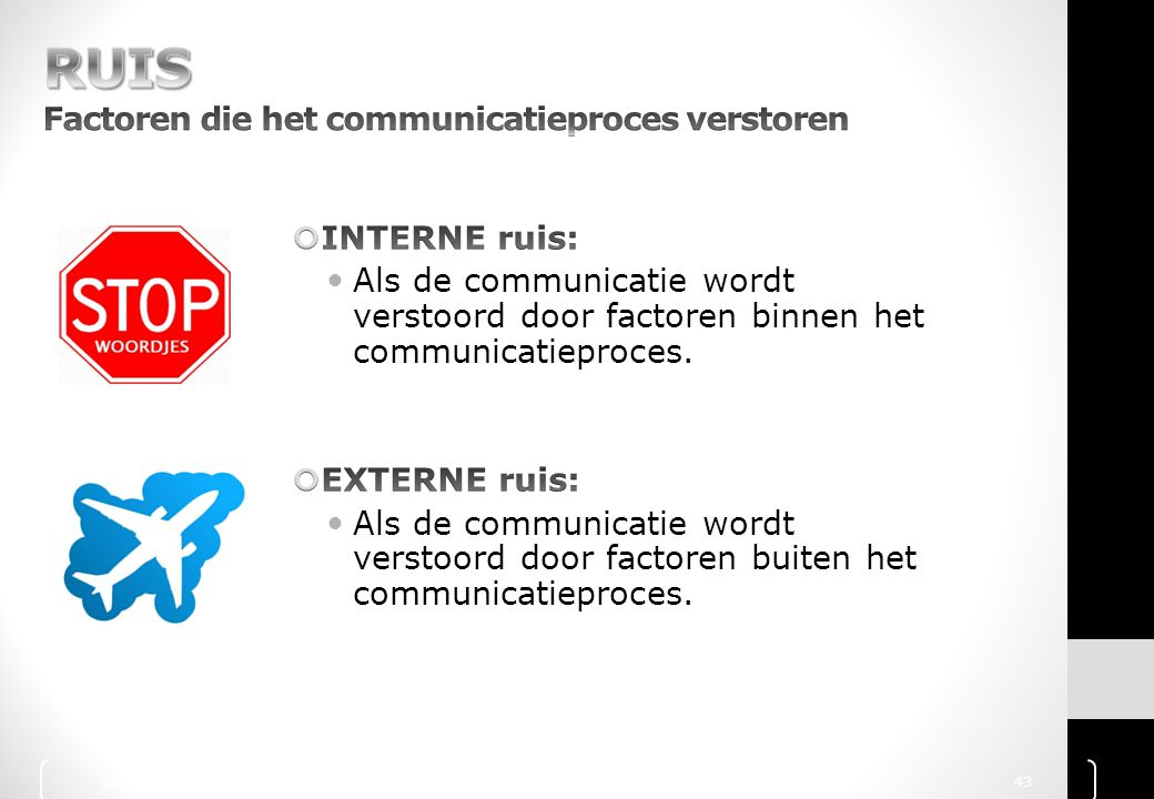 RUIS Factoren die het communicatieproces verstoren