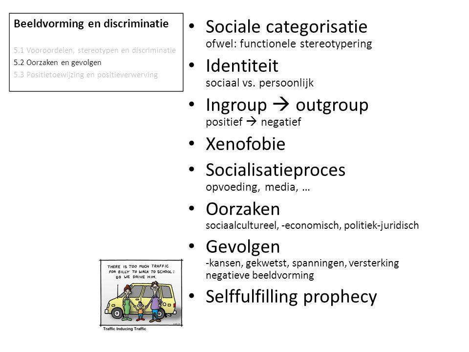 Sociale categorisatie ofwel: functionele stereotypering