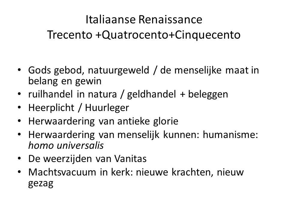 Italiaanse Renaissance Trecento +Quatrocento+Cinquecento