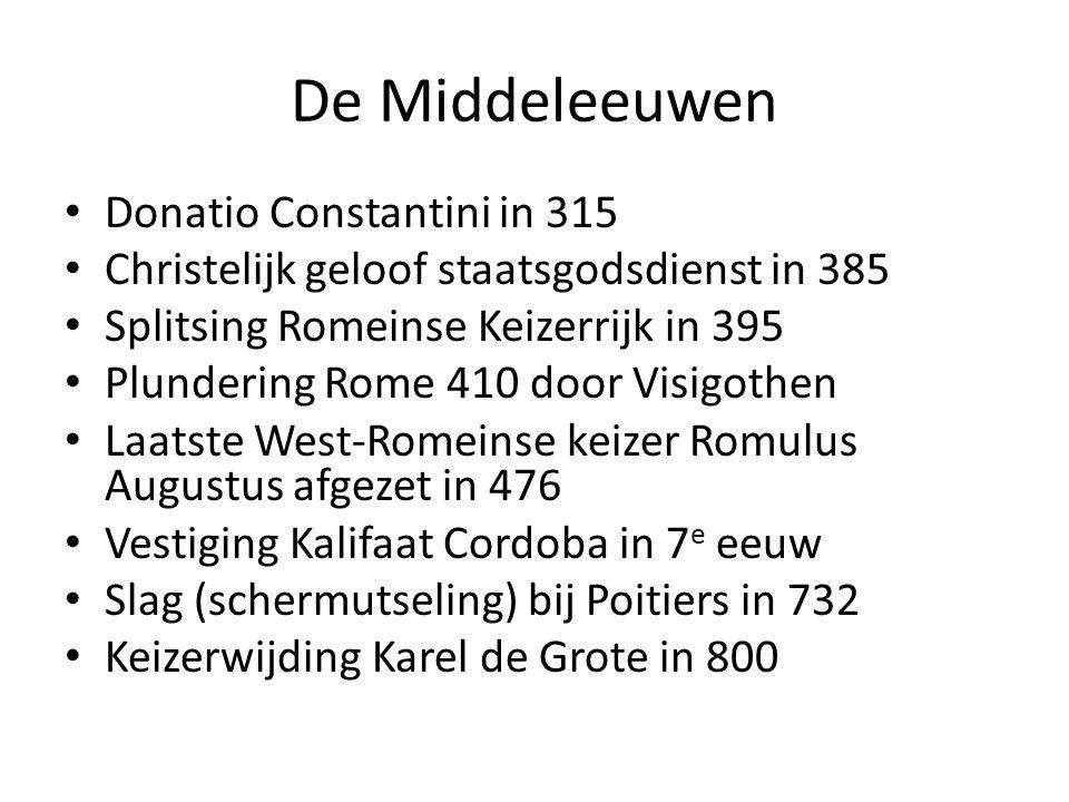 De Middeleeuwen Donatio Constantini in 315
