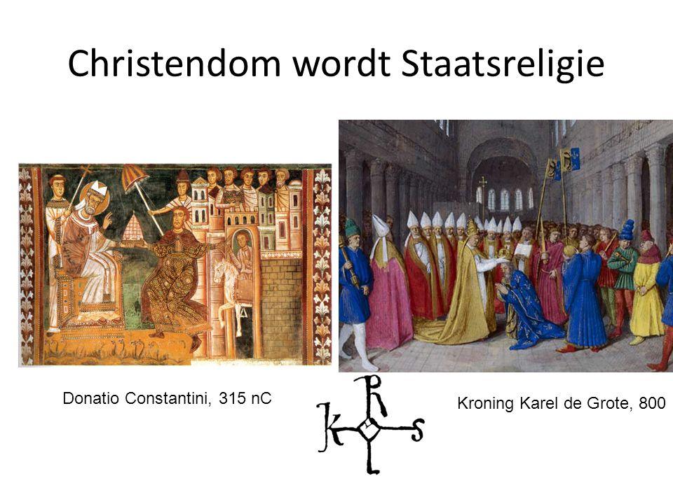 Christendom wordt Staatsreligie