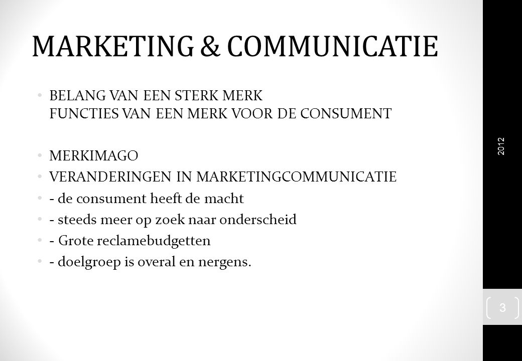 MARKETING & COMMUNICATIE