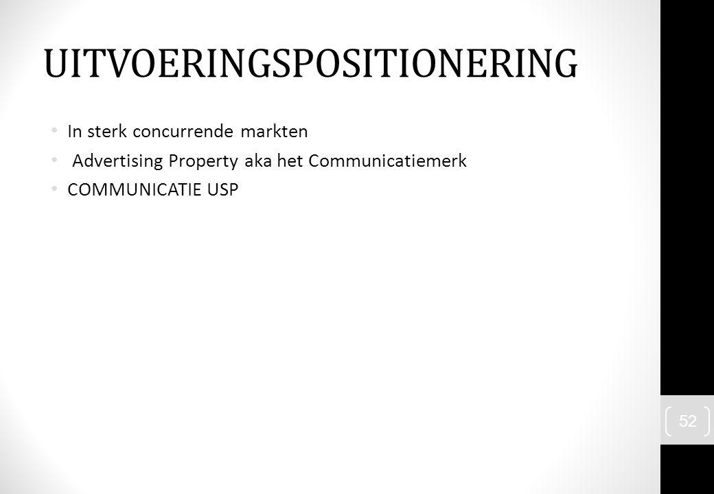 UITVOERINGSPOSITIONERING