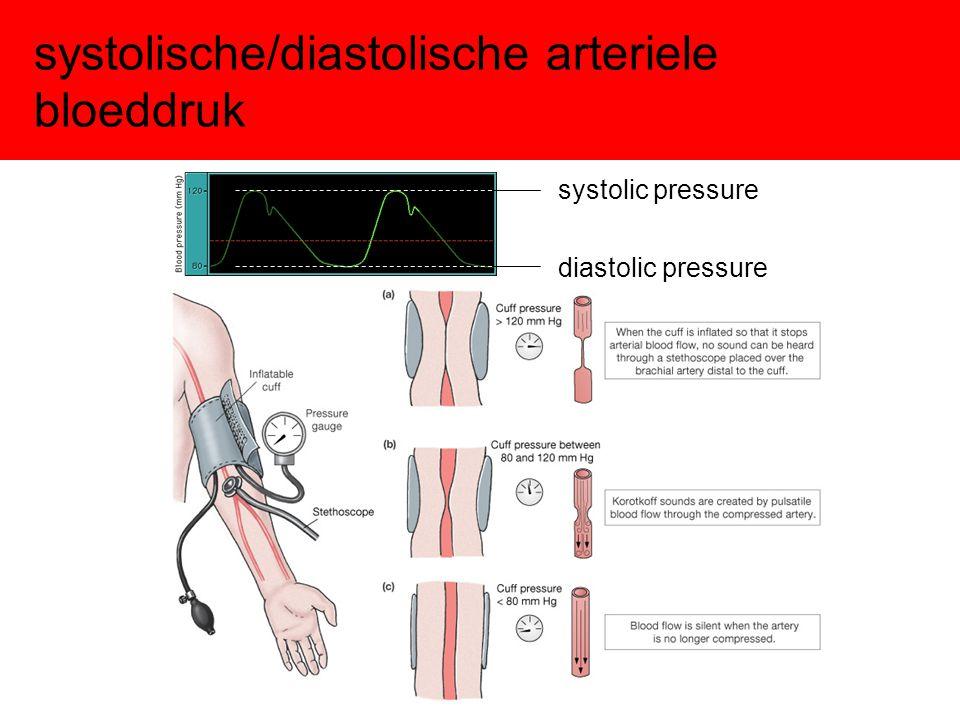 systolische/diastolische arteriele bloeddruk