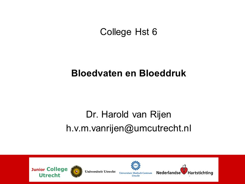 Bloedvaten en Bloeddruk