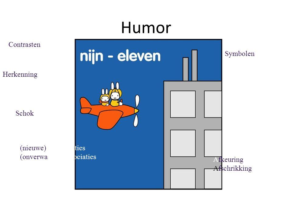 Humor Contrasten Symbolen Herkenning Schok (nieuwe) Combinaties