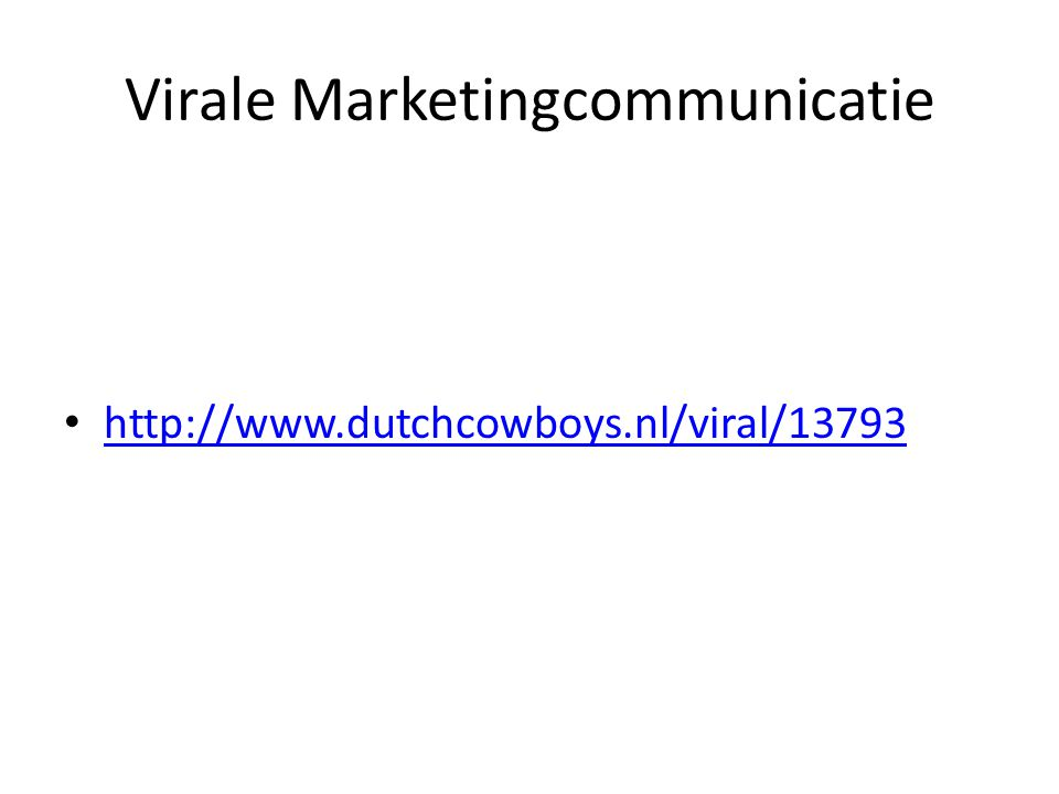 Virale Marketingcommunicatie