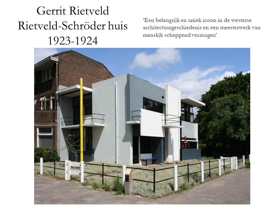 Gerrit Rietveld Rietveld-Schröder huis 1923-1924