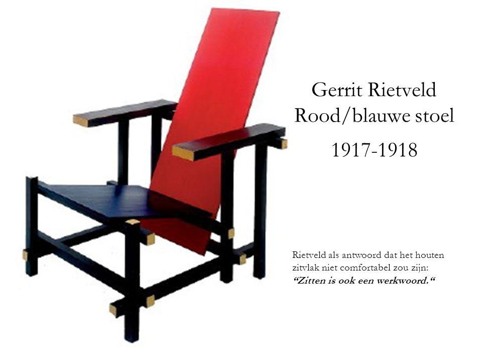 Gerrit Rietveld Rood/blauwe stoel 1917-1918