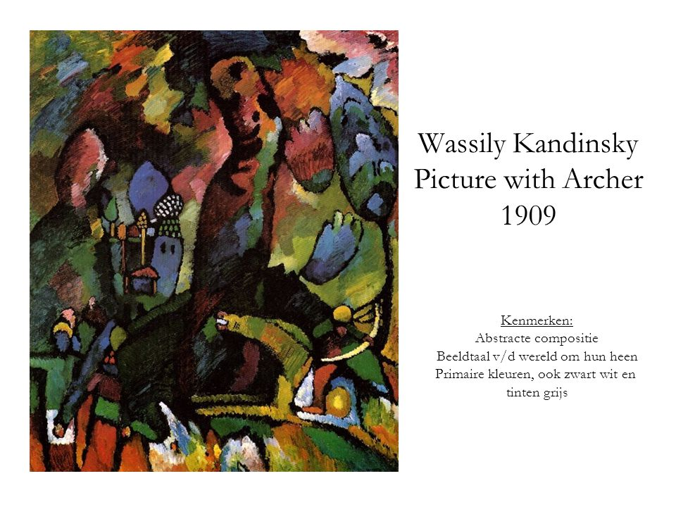 Wassily Kandinsky Picture with Archer 1909