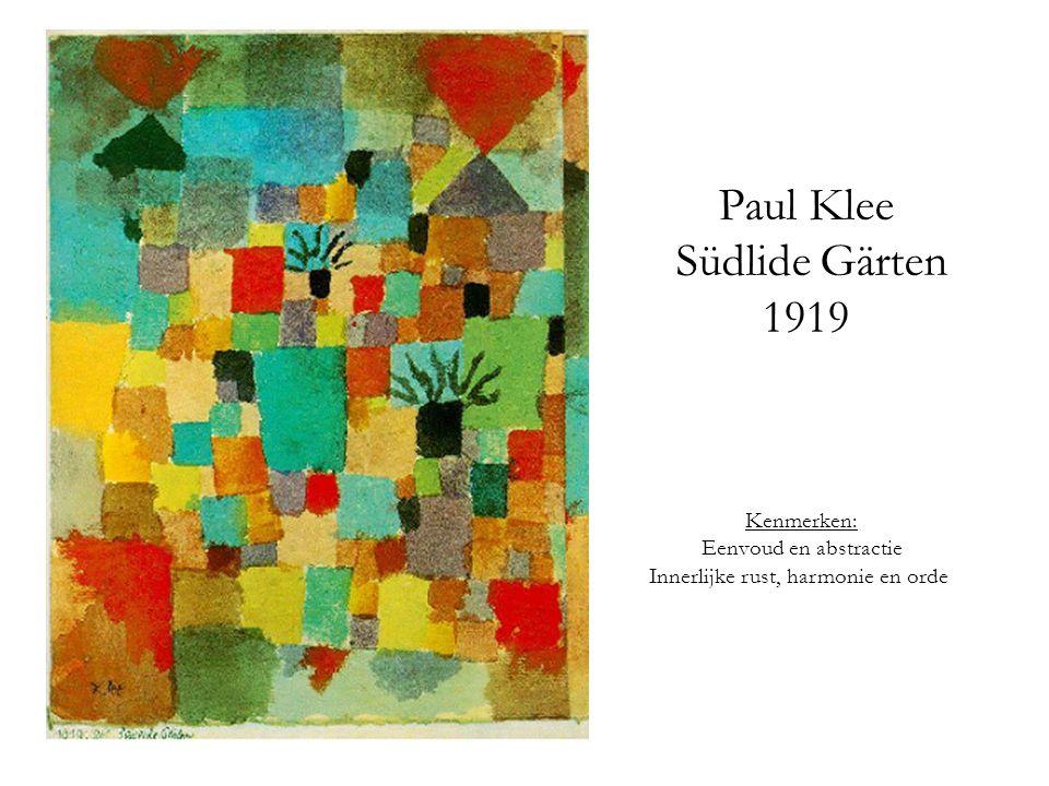 Paul Klee Südlide Gärten 1919