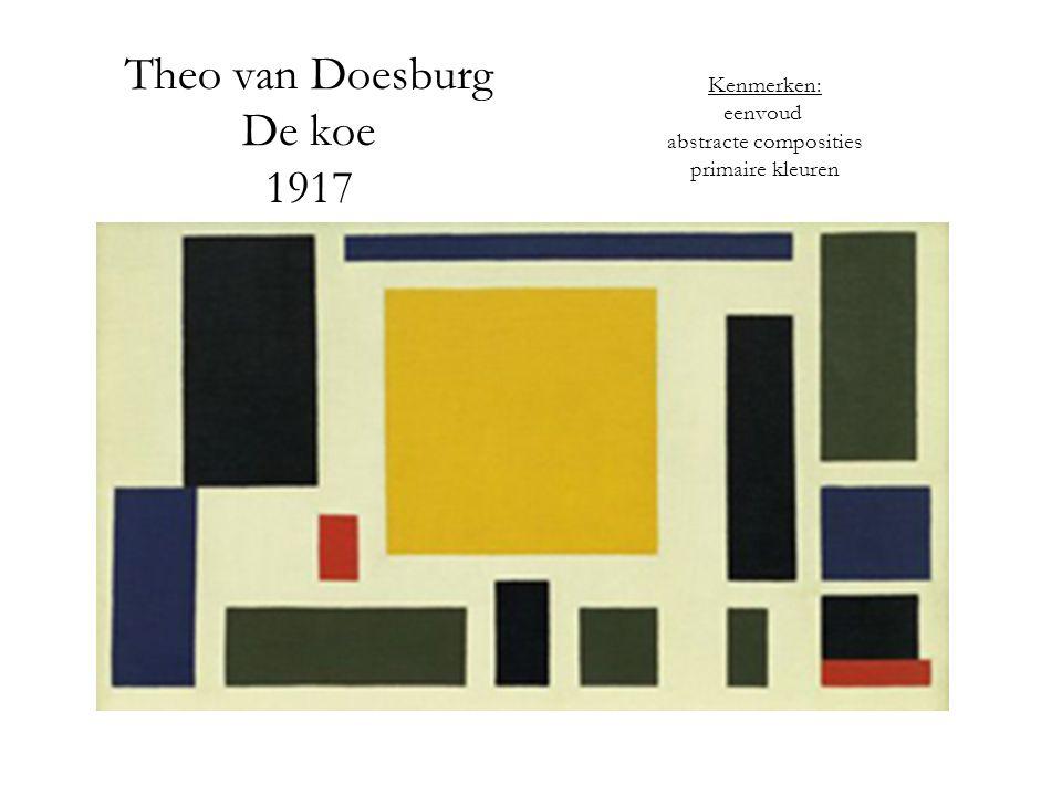 Theo van Doesburg De koe 1917