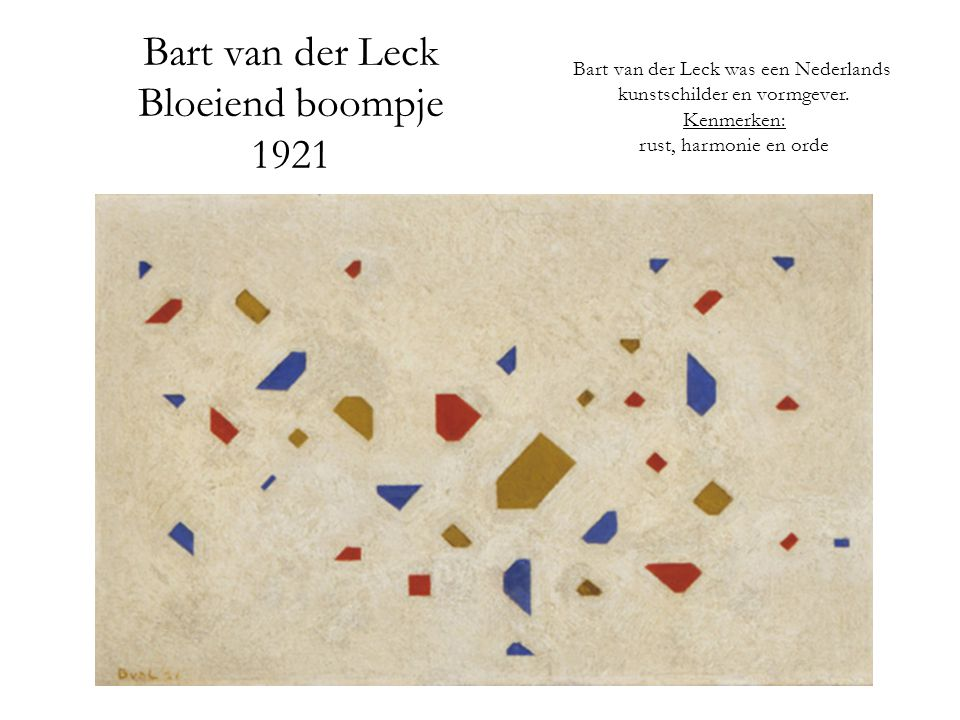 Bart van der Leck Bloeiend boompje 1921