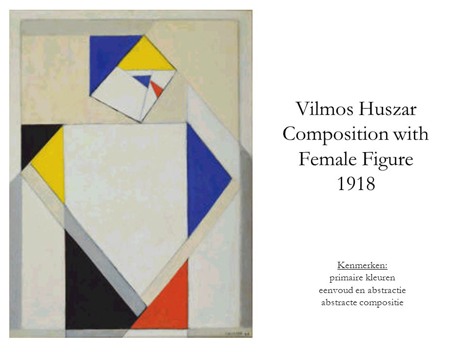 Vilmos Huszar Composition with Female Figure 1918